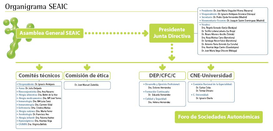 Organigrama de la SEAIC