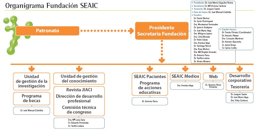 Organigrama de la Fundación de la SEAIC